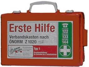 Verbandskasten Ö-Norm Z 1020 Typ 1