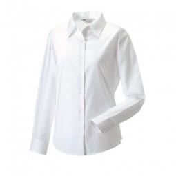 Damen Bluse Oxford Style weiss