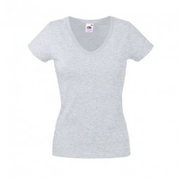 Lady Fit Valueweight V-Neck T 61398 Weiss