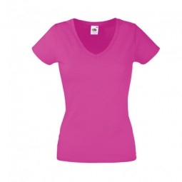 Lady Fit Valueweight V-Neck T 61398 Farbig